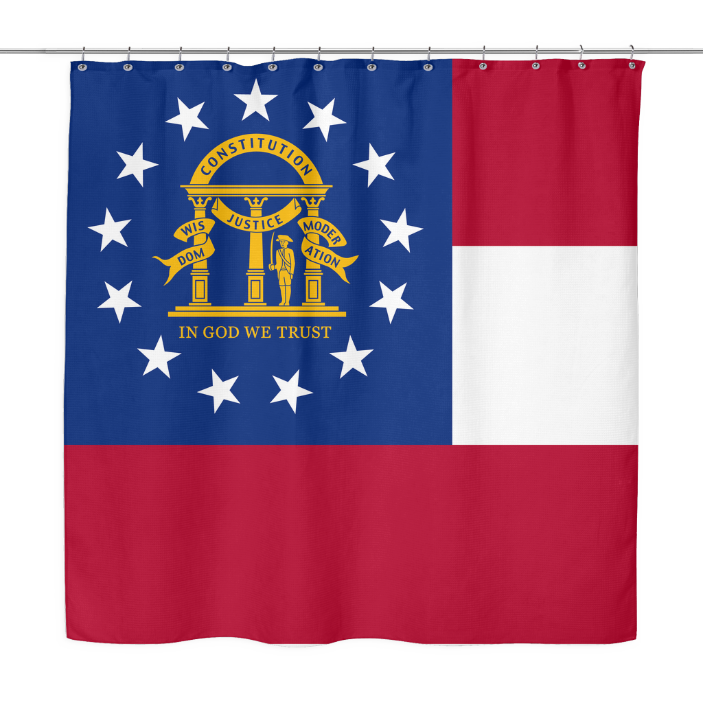 Georgia Flag - Shower Curtain - Old School States of America