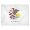 Illinois Flag - Fleece Blankets