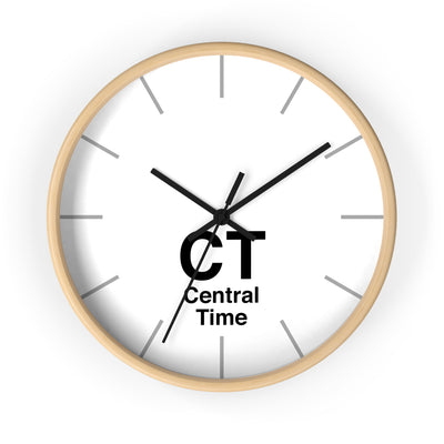 Central Time Zone Wall Clock - White Dial
