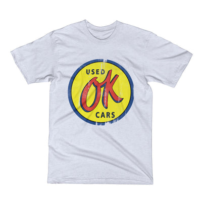 OK Used Cars Button Sign Vintage Men's Short Sleeve T-Shirt