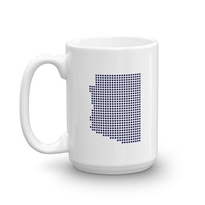 Arizona Dot White 15 ounce Mug Left