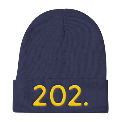 Washington DC 202 Area Code - Knit Beanie