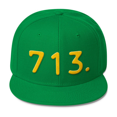 Texas 713 Area Code - Wool Blend Snapback Hat
