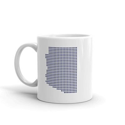 Arizona Dot White 11 ounce Mug Left