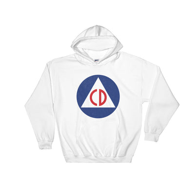 US Civil Defense Hooded Vintage Sweatshirt