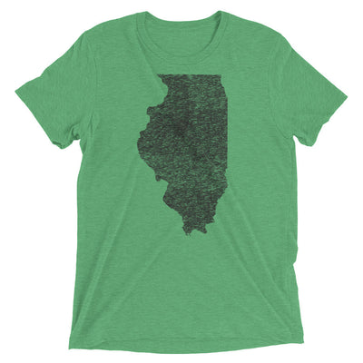 Illinois Distressed - Unisex / Men's Short sleeve tri-blend t-shirt