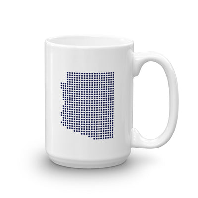 Arizona Dot White 15 ounce Mug