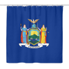New York State Flag Shower Curtain