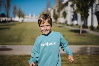 Seafoam Sweatshirt | Italian, Spanish, French, German, Chinese, Korean, Farsi, Arabic