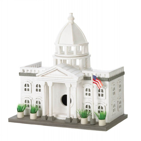 White House Birdhouse - Mile High Bazaar