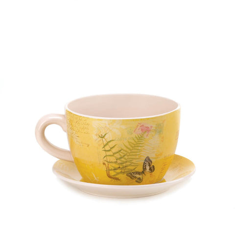 Garden Butterfly Teacup Planter - Mile High Bazaar