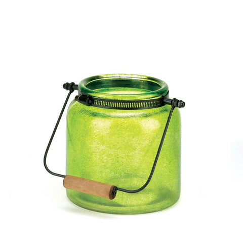 Green Jar Candle Lantern - Mile High Bazaar