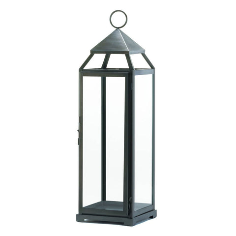 Brushed Silver Extra Tall Lantern - Mile High Bazaar