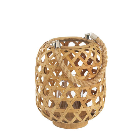 Small Bamboo Woven Lantern - Mile High Bazaar