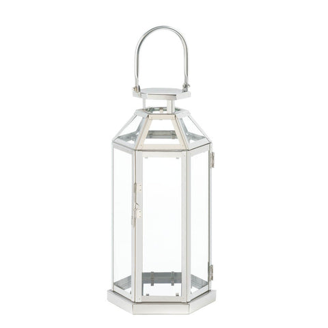 Steel Symmetry Candle Lantern - Mile High Bazaar