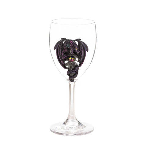 Purple Dragon Glass Goblet - Mile High Bazaar