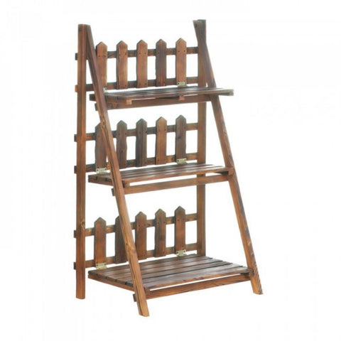 Picket Fence Plant Shelf Stand - Mile High Bazaar