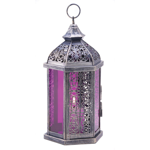 Enchanted Fuschia Candle Lantern - Mile High Bazaar