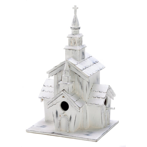 Little White Chapel Birdhouse - Mile High Bazaar