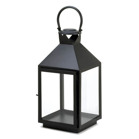 Large Classic Black Candle Lantern - Mile High Bazaar