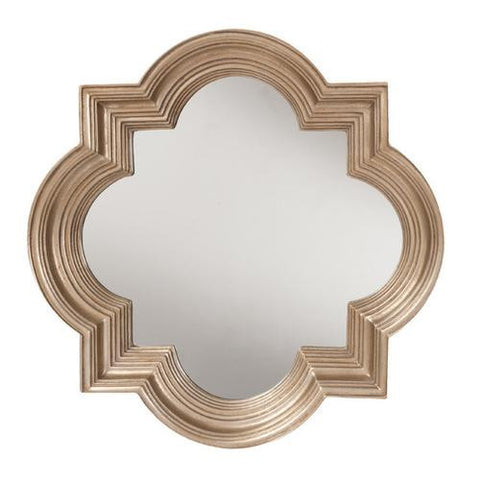 The Gatsby Wall Mirror With Platinum Gold Frame - Mile High Bazaar