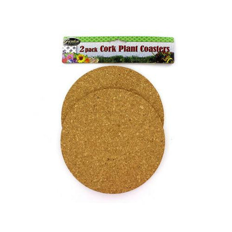 2 Pack Cork Plant Coasters ( Case of 72 ) - Mile High Bazaar