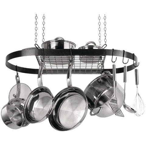 Range Kleen Oval Hanging Pot Rack (black Enamel) - Mile High Bazaar