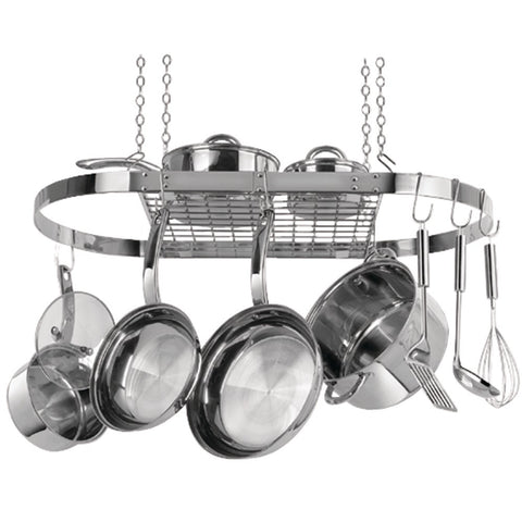 Range Kleen Oval Hanging Pot Rack (stainless Steel)