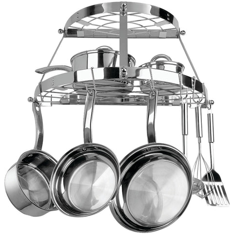 Range Kleen Double Shelf Wall Mount Pot Rack (stainless Steel)