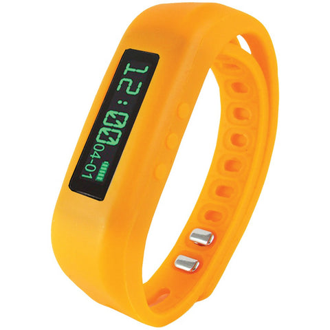 Supersonic Bluetooth Smart Wristband Fitness Tracker (orange) - Mile High Bazaar