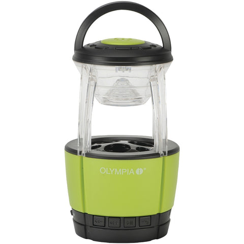 Olympia 72-lumen Jamlight Led Lantern With Bluetooth Speaker & Microphone - Mile High Bazaar