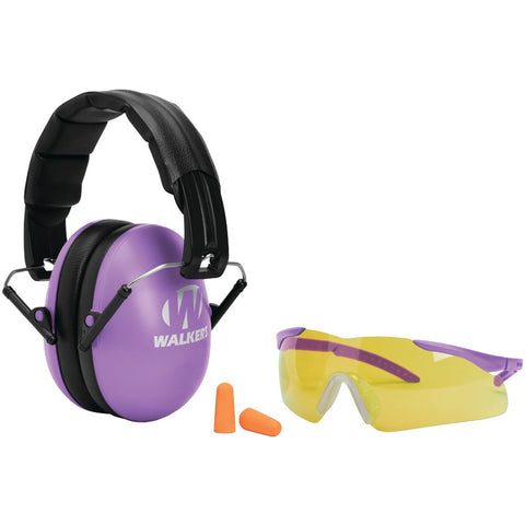 Walkers Game Ear Youth & Women's Folding Muff With Glasses & Plug Combo Kit (purple) - Mile High Bazaar