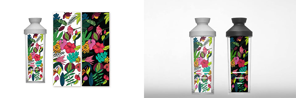 Zaza bottle ilustrace