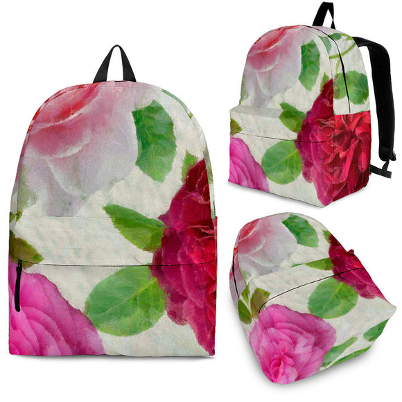 Peonies Bouquet Coaster Backpack