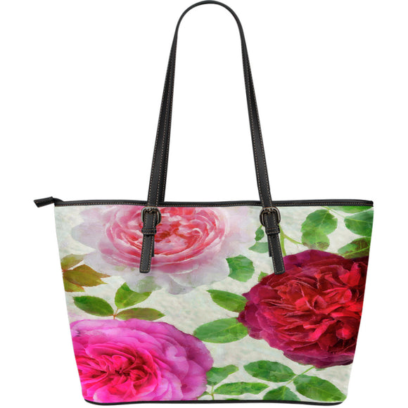 Peonies Bouquet Coaster Leather Totes