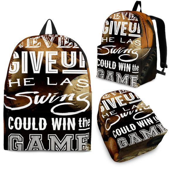 BASEBALL GAME BACKPACK