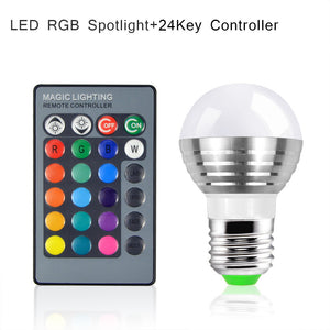 Multicolor Changeable LED Night Light 85V- 265V Bulb With IR Remote Controller (FREE plus Shipping)
