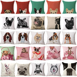 Sassy Pug Dog Cushion Cotton Pillow Covers