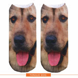 UNISEX 3D Pug Dog Husky Printed Ankle Socks