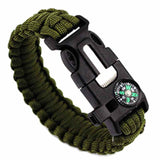 Survival Bracelet Paracord with Fire Starter Scraper Compass Whistle