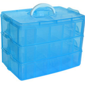 30 Grids 3 Layers Clear Plastic Storage Box-Container