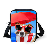 3D Pug Dog Printed causal kids Cross Body travel bag