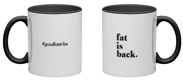 fat is back - Black Coffee Mug - suziesgoodfats