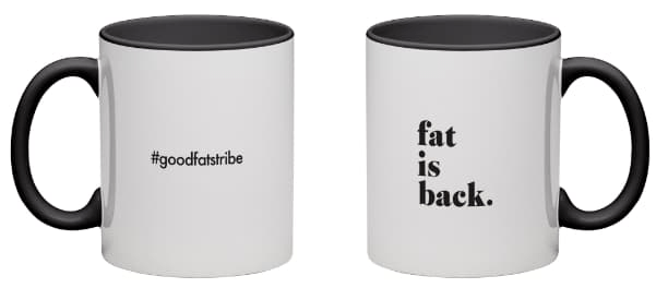 "Black Mug - ""fat is back "" - suziesgoodfats"
