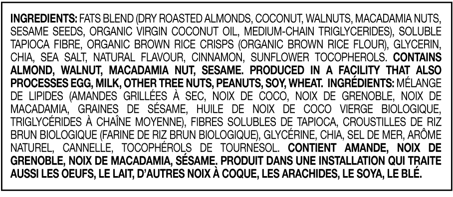Coconut Macadamia Nut Bar Ingredients