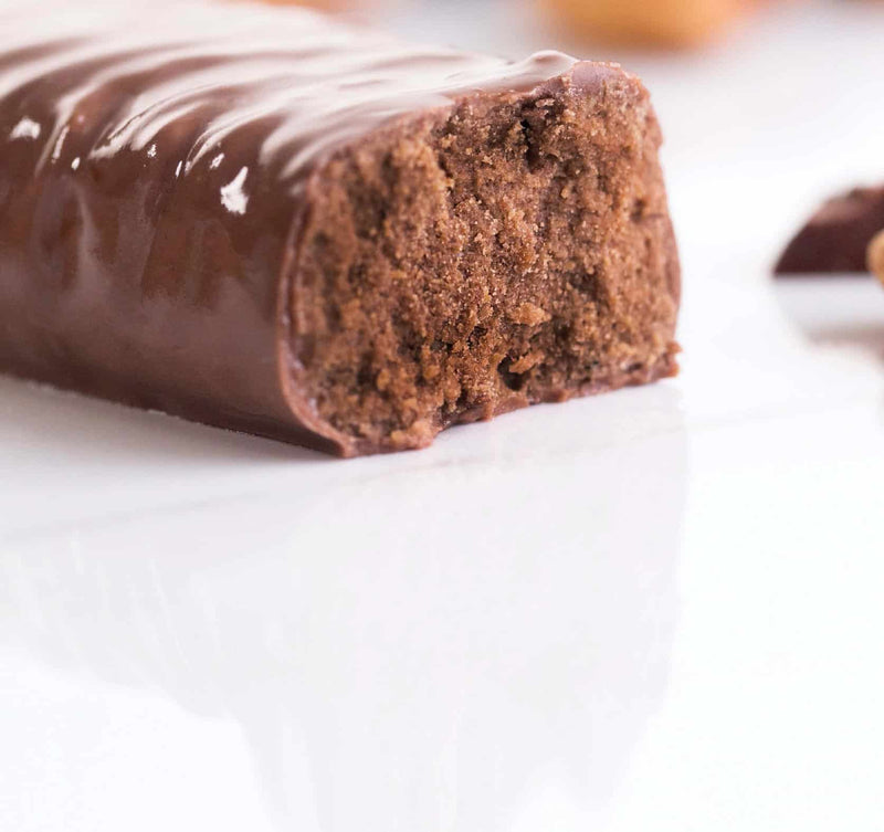 rich chocolatey almond keto bar
