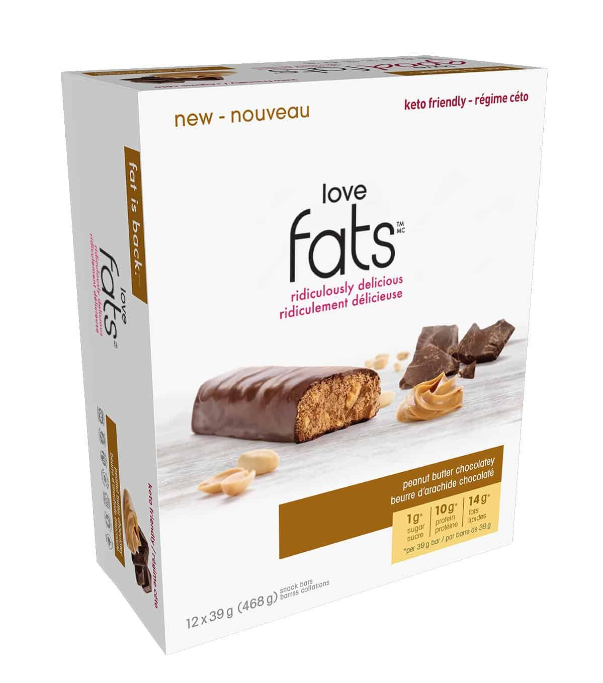 Love Fats™ - Peanut Butter Chocolatey <span class=red><br>#1 BestSeller!</span> (box of 12)