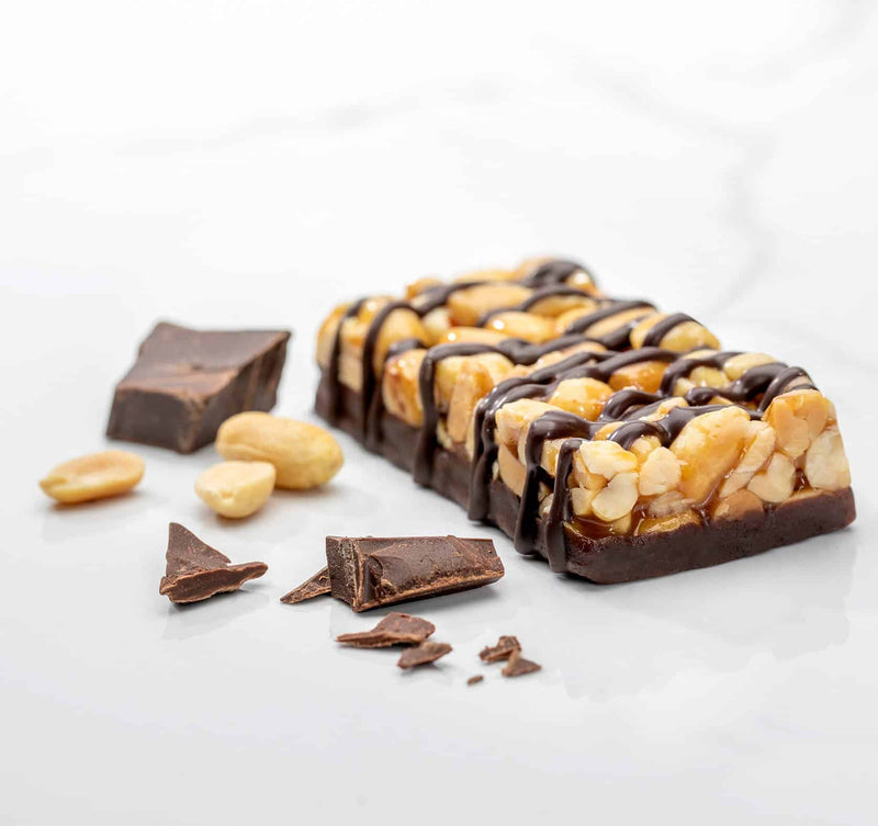 chewy nutty peanut chocolatey