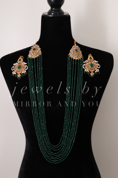 Emerald mix and match set