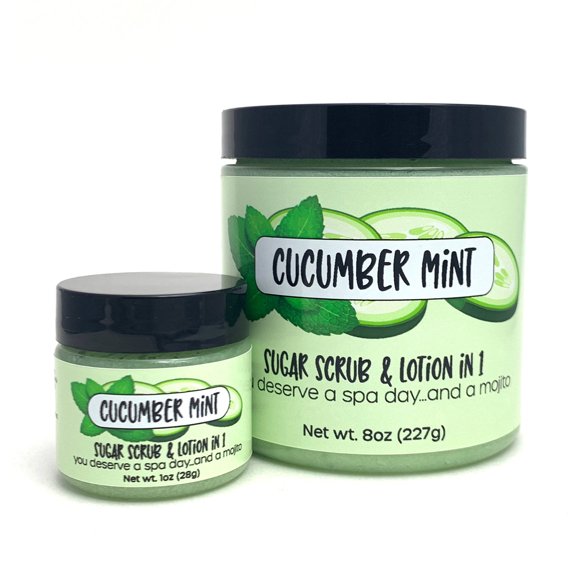 Cucumber Mint Sugar Scrub and Lotion in One